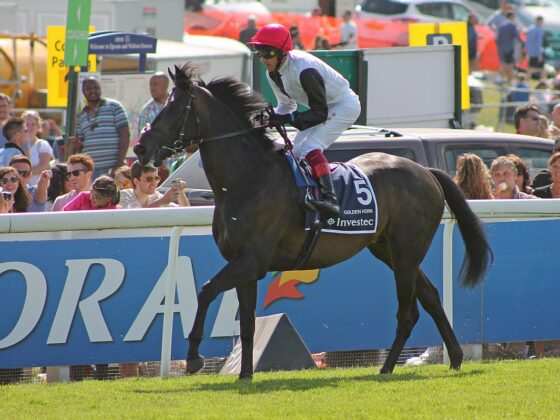 Golden Horn Epsom Derby winner 2015 John Gosden and Frankie Dettori